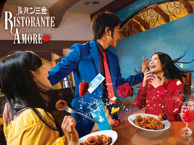 【USJ】ルパン三世に会えるレストラン・リストランテアモーレ感想まとめ!待ち時間&予約は?