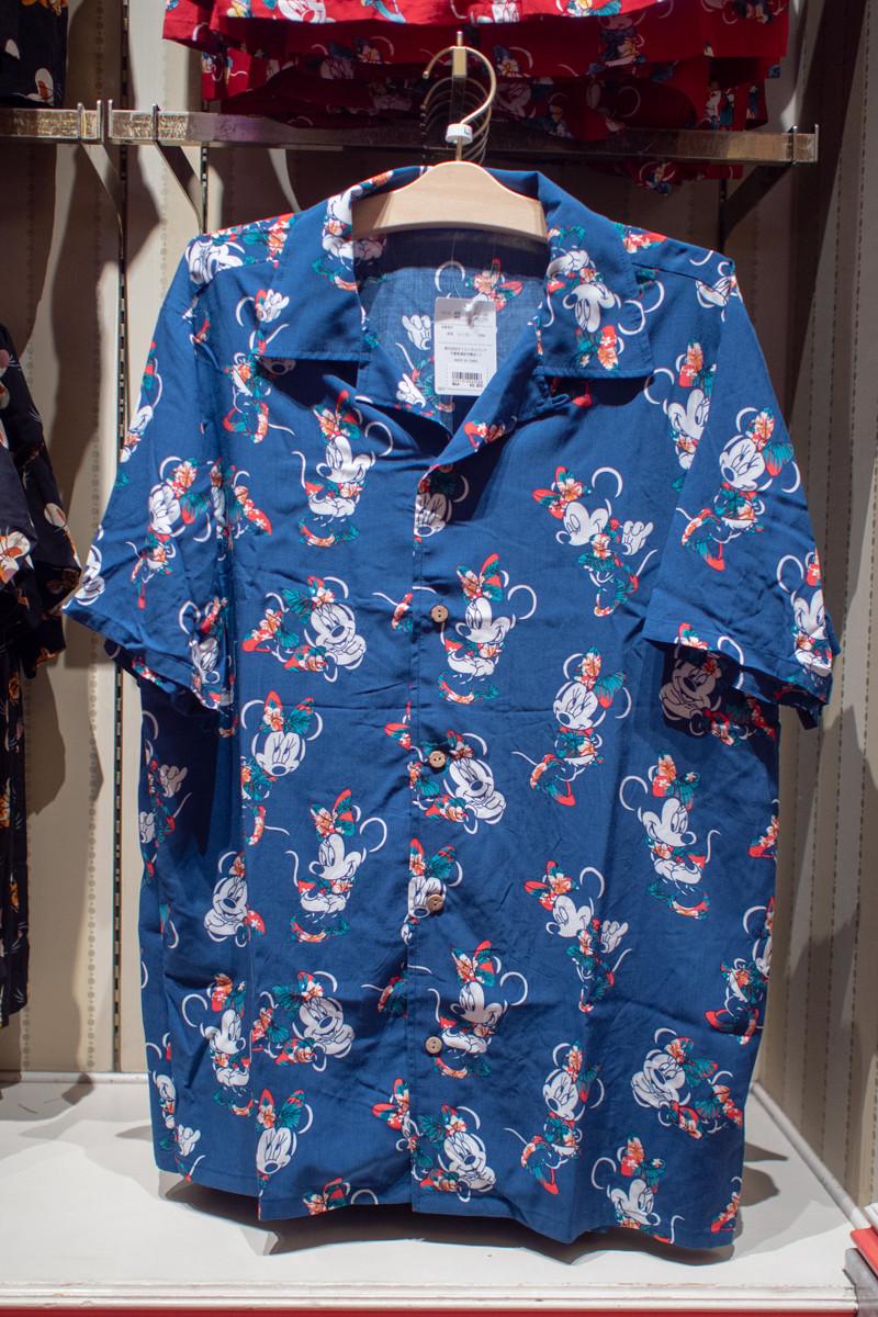 ミニーマウスアロハシャツ(ブルー)