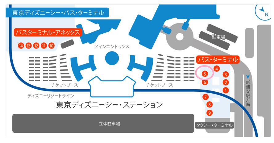 東京ディズニーシー・スターミナル地図