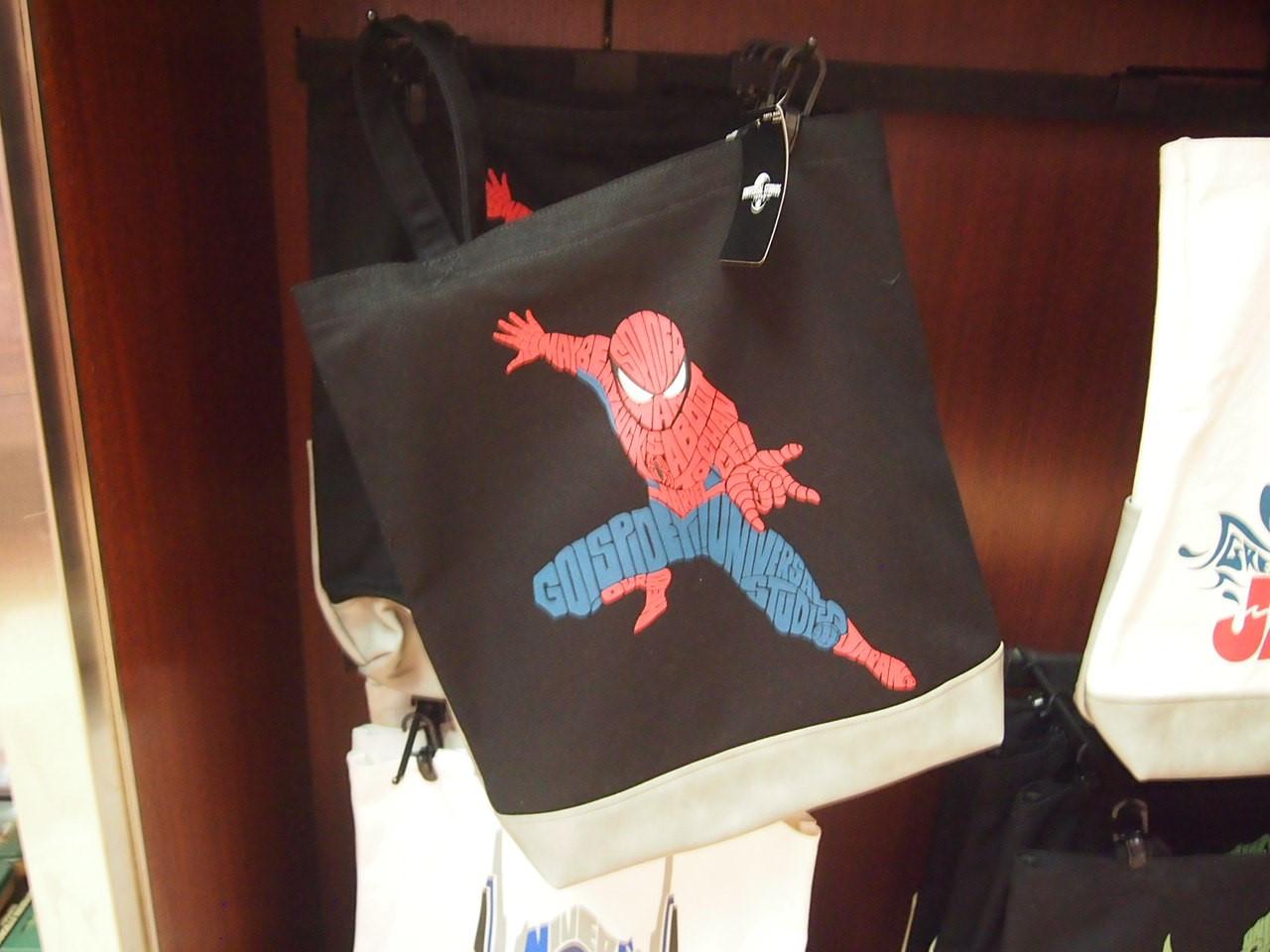 スパイダーマンタイポグラフィトートバッグ