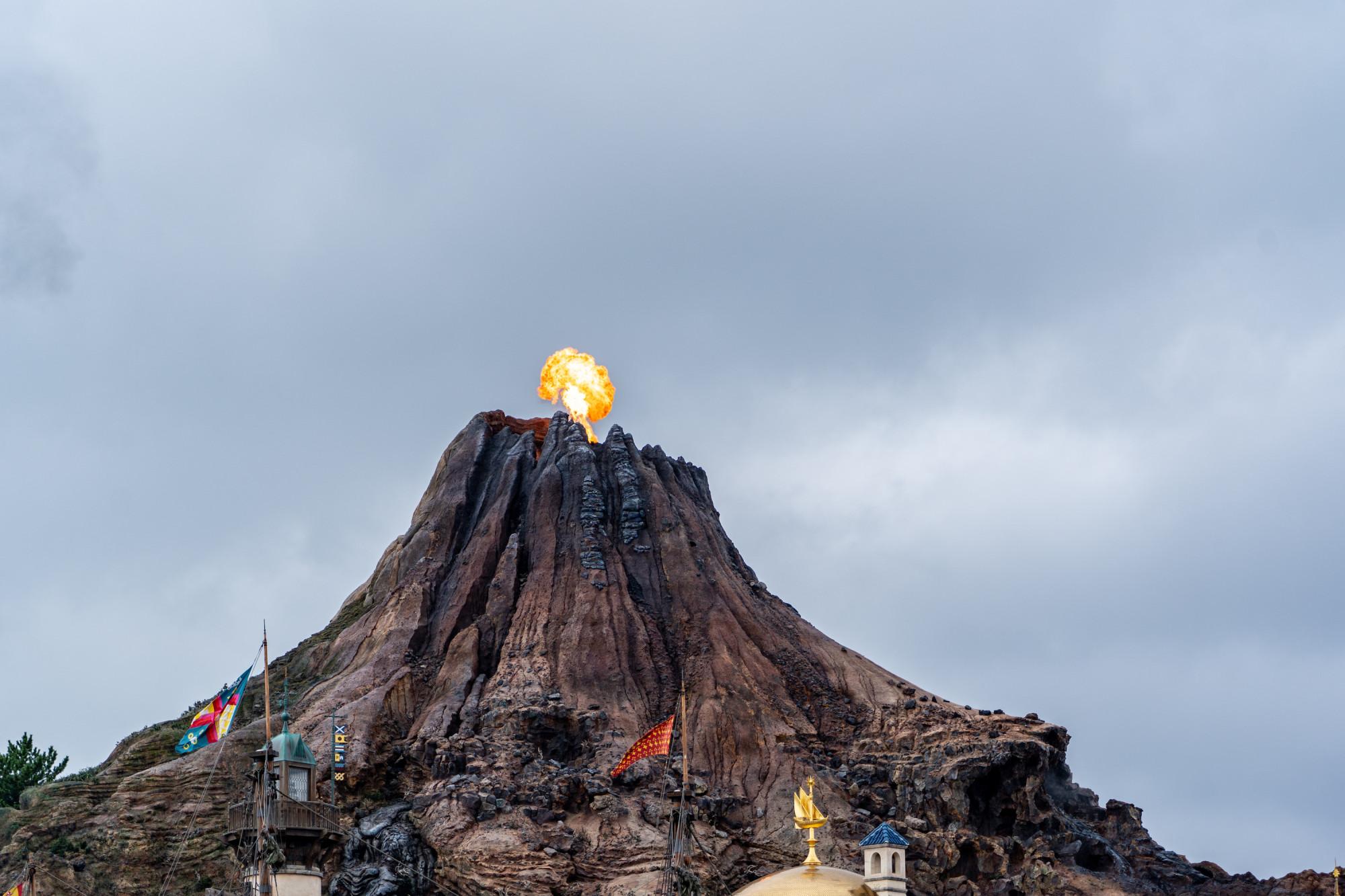 プロメテウス火山が噴火したところ