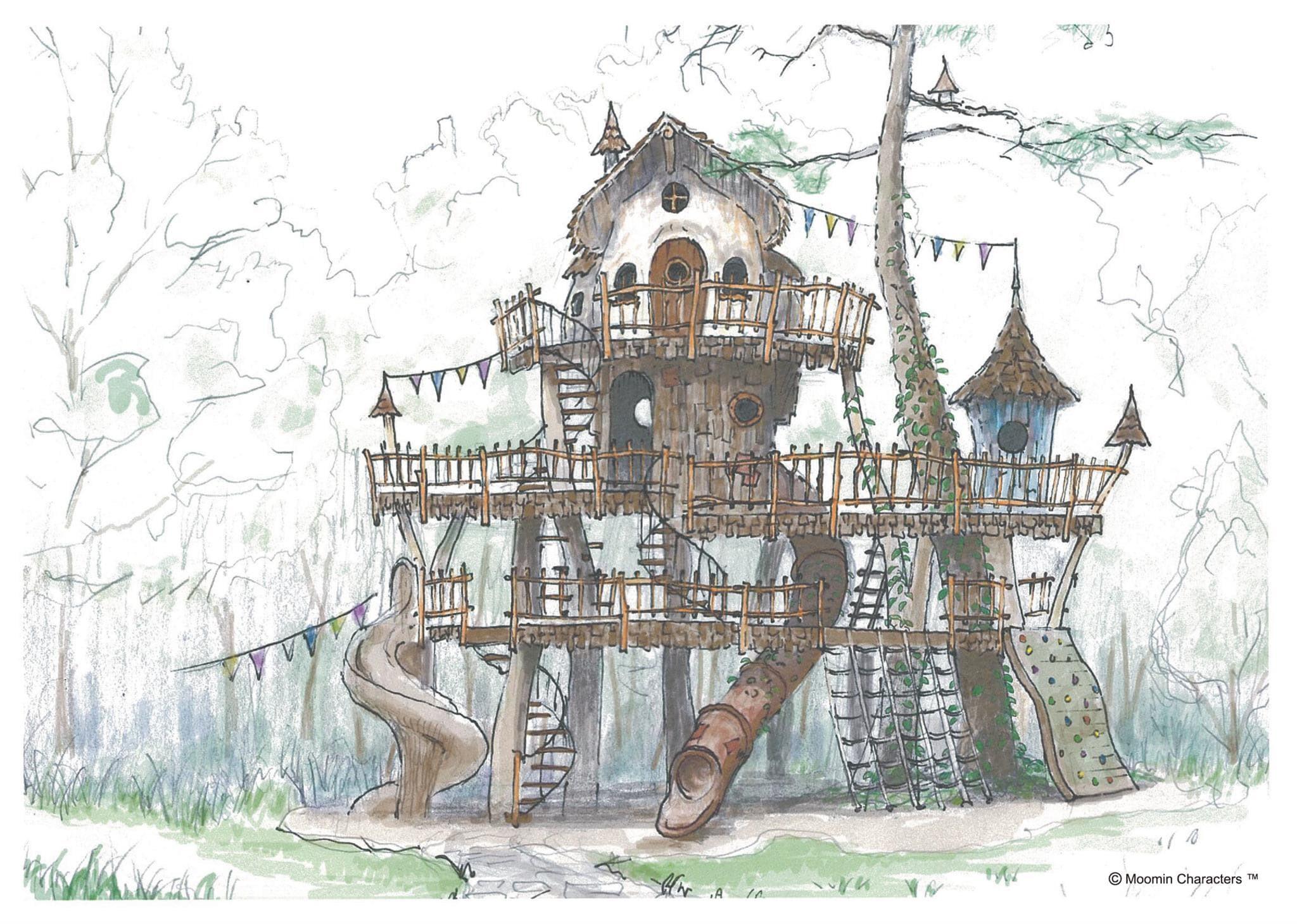 ツリーハウス風の「ヘムレンさんの遊園地」