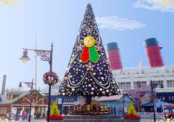 アメリカンウォーターフロントのクリスマスツリー