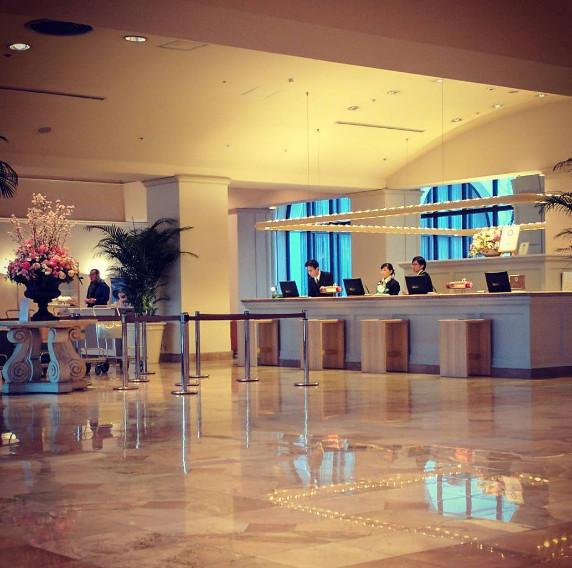 ホテルオークラ東京ベイのロビー