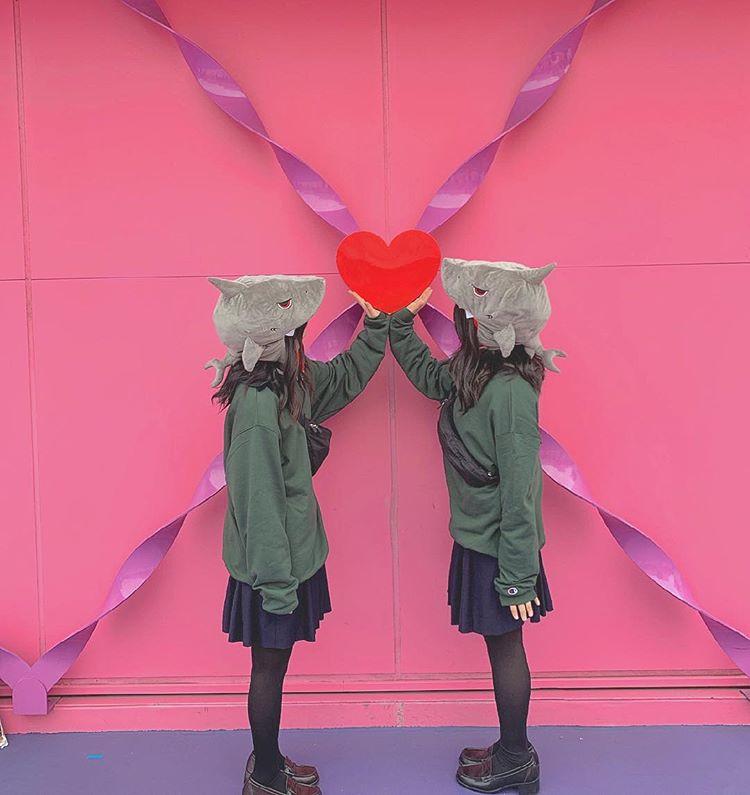 【ジョーズの双子コーデ】制服MIX