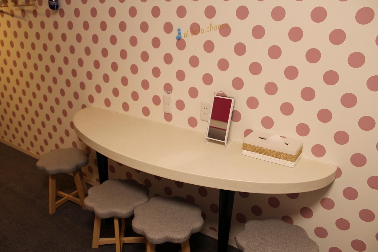 2段ベッドルーム(ドット)のテーブルセット