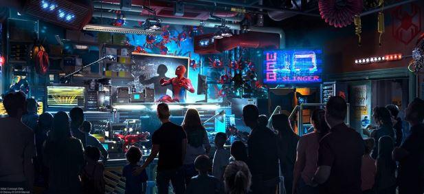 スパイダーマンのアトラクション