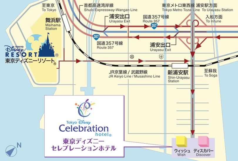 東京ディズニーセレブレーションホテルの駐車場アクセス地図