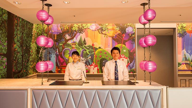 東京ディズニーセレブレーションホテルのカウンター