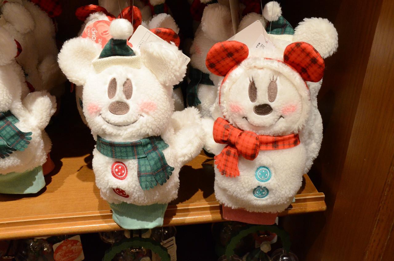 スノーミッキー&スノーミニーのミトン手袋