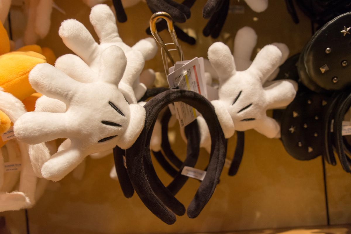ミッキー手袋のカチューシャ
